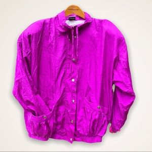 NWT 90s Vintage bundle Magenta windbreaker & pants